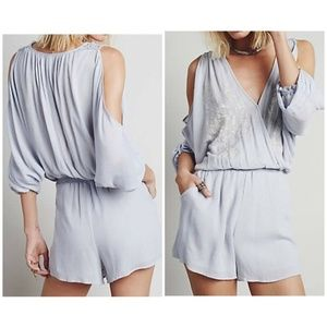 Free People Size L Embroidered Romper